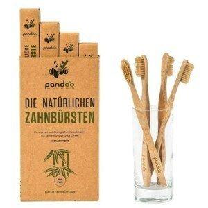 Pandoo Bambusové zubní kartáčky Medium Soft - výhodné balení 4 ks