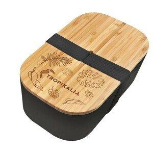 Tropikalia Lunch box ECO - Black s oddělovačem