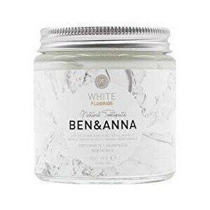 BEN & ANNA Zubní pasta bílá s fluoridem, 100 ml
