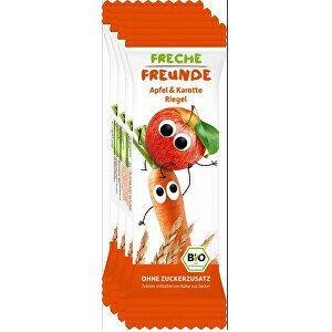 Freche Freunde BIO Ovocná tyčinka - Jablko a mrkev 4 x 23 g