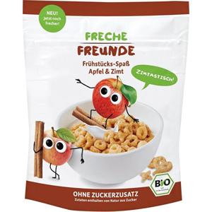 Freche Freunde BIO Cereálie - křupavé piškvorky - Jablko a skořice 125 g