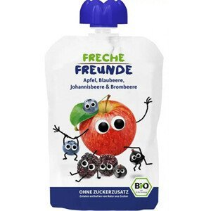 Freche Freunde BIO Ovocná kapsička Jablko, borůvka, černý rybíz a ostružina 100 g