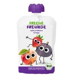Freche Freunde BIO Ovocná kapsička Jablko, jahoda a fík 100 g