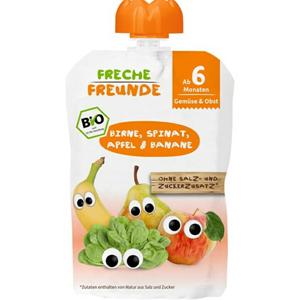 Freche Freunde BIO Kapsička Hruška, špenát, jablko a banán 100 g