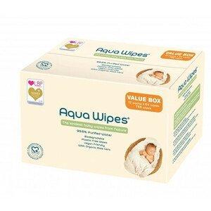 Aqua Wipes EKO dětské vlhčené ubrousky, 12 x 64 ks