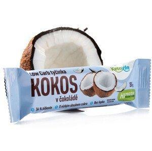 KetoLife Low Carb tyčinka - Kokos v čokoládě 55 g