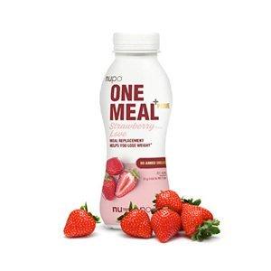 NUPO ONE MEAL + PRIME hotový nápoj Strawberry Love 372 g