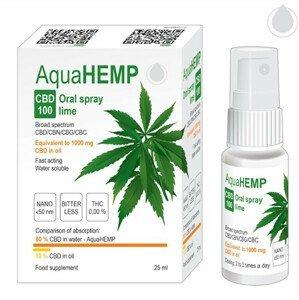 OVONEX AquaHEMP Spray LIME broad spectrum 25 ml CBD 100