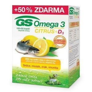 Green-Swan GS Omega 3 Citrus + D3 100 + 50 kapslí