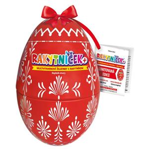 Terezia Company RAKYTNÍČEK+ multivitaminové želatinky 50 ks - Velikonoční vejce červené