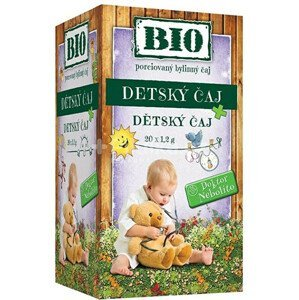 HERBEX Dr. Nebolíto BIO Dětský čaj 20 x 1,5 g