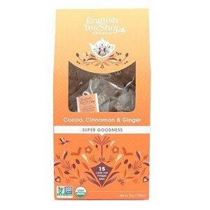 English Tea Shop Kakao, skořice a zázvor 15 pyramidek sypaného čaje