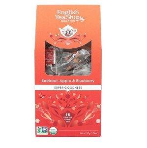 English Tea Shop Červená řepa, jablko a borůvka 15 pyramidek sypaného čaje