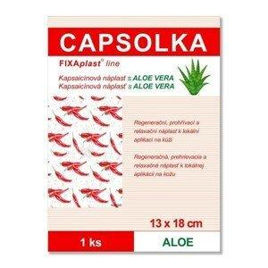 FIXAplast CAPSOLKA Kapsaicínová hřejivá náplast ALOE 13 x 18 cm 1 ks