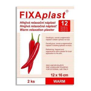 FIXAplast Kapsaicínová hřejivá náplast WARM 12 x 16 cm 2 ks