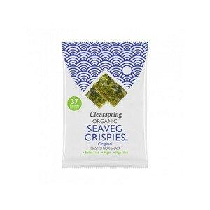 Clearspring Seaveg Crispies – Křupky z mořské řasy Nori solené BIO 8 g