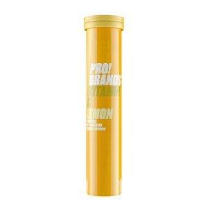 PRO!BRANDS Vitamin C 80 g - 20 šumivých tablet - citron