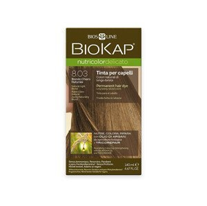 Biokap NUTRICOLOR DELICATO - Barva na vlasy - 8.03 Blond přírodní světlá 140 ml
