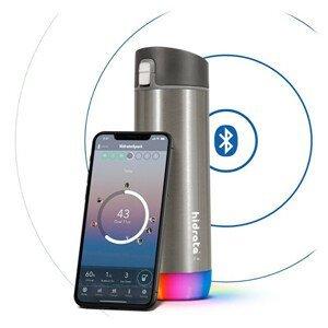 HidrateSpark Nerezová chytrá lahev 620 ml, Bluetooth tracker, nerezová