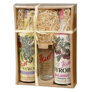 Kitl Kitl Syrob dárkové balení (Bez, Malina) 2 x 500 ml