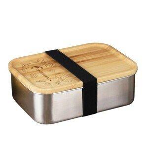 Tropikalia Nerezový lunch box s dřevěným víkem