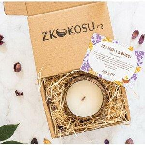 zKokosu Sojová svíčka s vůní LEVANDULE v dárkovém balení