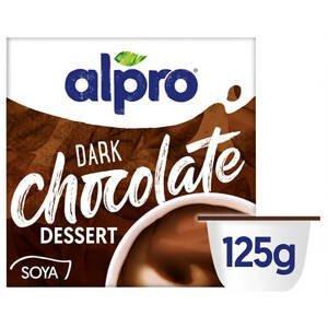 Alpro Sójový dezert s příchutí hořké čokolády 4 x 125 g