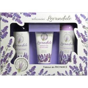 Body tip Dárková kazeta Levandule PREMIUM - Sprchový gel, tělové mléko, krém na ruce
