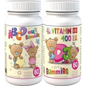 Clinical ABCD Multi Gummies 60 pektinových bonbónů + D3 Gummies 60 pektinových bonbónů