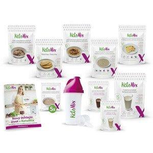 KetoMix Ketonová dieta na 2 týdny (čokoláda, vanilka a jahoda)