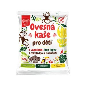Semix Ovesná kaše pro děti s vápníkem s čokoládou a banánem 50g
