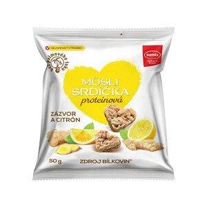 Semix Proteinová srdíčka se zázvorem a citronem 50g