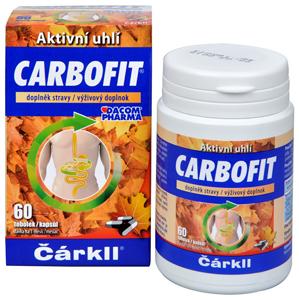 Dacom Pharma Carbofit - aktivované rostlinné uhlí 60 tob. - SLEVA - POŠKOZENÁ KRABIČKA