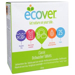 Ecover Tablety do myčky na nádobí 25 tbl. - SLEVA - POMAČKANÁ KRABIČKA