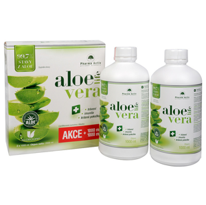 Pharma Activ AloeVeraLife 1+1 ZDARMA (1000 ml + 1000 ml) - SLEVA - POTRHANÁ KRABIČKA