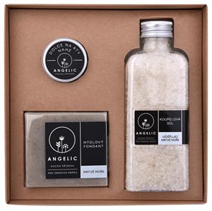 Angelic Dárková krabička Angelic koupelová sůl očišťující Mrtvé moře - SLEVA - poškozená vnitřní výplň krabičky