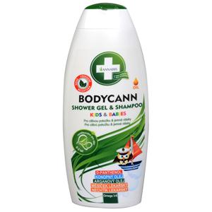 Annabis Bodycann Kids & Babies šampon a sprchový gel 2v1 250 ml - SLEVA - rozbité víčko (uštíplá část), obsah nevytéká
