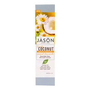JASON Zubní pasta simply coconut zklidňující s heřmánkem 119 g - SLEVA - poškozená krabička