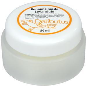 Delibutus Konopné máslo Levandule 50 ml - SLEVA - KRÁTKÁ EXPIRACE 25.6.2020