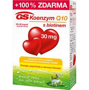 GreenSwan GS Koenzym Q10 30 mg 30 kapslí + 30 kapslí - SLEVA - pomačkaná krabička