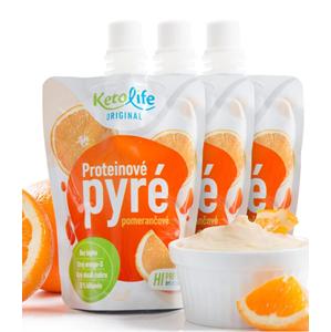 KetoLife Proteinové pyré - Pomerančové 3 ks - SLEVA - chybí 1 ks