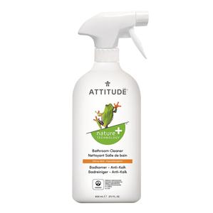 ATTITUDE Nature+ Čistič na koupelny ATTITUDE s vůní citronové kůry s rozprašovačem 800 ml - SLEVA - poškozená etiketa