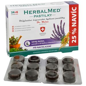 Simply You HerbalMed pastilky Dr. Weiss při nachlazení 24 pastilek + 6 pastilek ZDARMA - SLEVA - POŠKOZENÁ KRABIČKA
