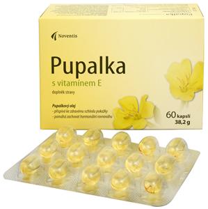 Noventis Pupalka s vitamínem E 60 kapslí - SLEVA - ušpiněná krabička