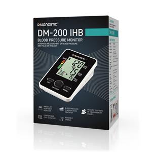Biotter Pharma DIAGNOSTIC Tlakoměr automatický pažní DM-200 IHB - SLEVA - odzkoušeno, poškozená krabička, bez cestovního pouzdra