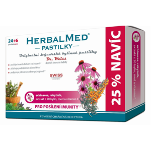 Simply You HerbalMed pastilky Dr. Weiss pro posílení imunity 24 pastilek + 6 pastilek ZDARMA - SLEVA - poškozená krabička