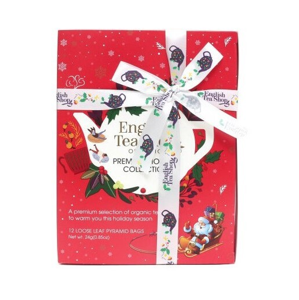 English Tea Shop Vánoční Červená kolekce 12 pyramidek - SLEVA - POMAČKANÁ KRABIČKA