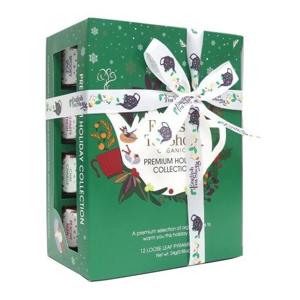 English Tea Shop Vánoční Zelená kolekce 12 pyramidek - SLEVA - POMAČKANÁ KRABIČKA