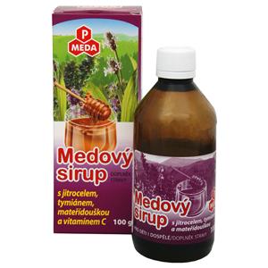 Purus Meda PM Medový sirup s jitrocelem, tymiánem, mateřídouškou a vitamínem C 100 g - BEZ KRABIČKY