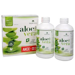 Pharma Activ AloeVeraLife 1+1 ZDARMA (1000 ml + 1000 ml) - SLEVA - potrhaná krabička, lepeno